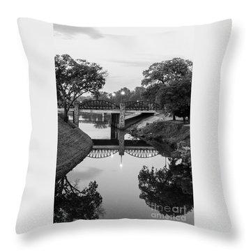 Delaware Creek At Dawn Throw Pillow