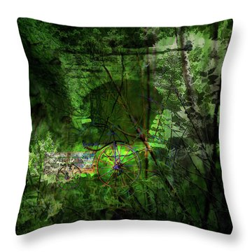 Delaware Green Throw Pillow