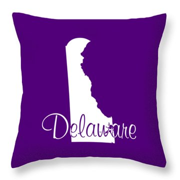 Delaware In White Throw Pillow