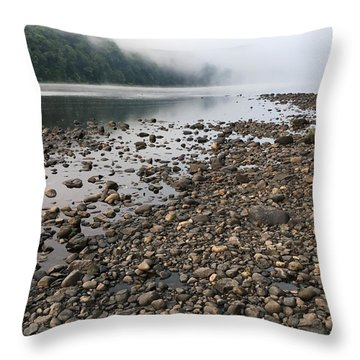 Delaware River Mist Throw Pillow