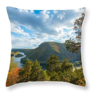 Throw Pillow featuring the photograph Delaware Water Gap In Autumn by Michael Ver Sprill