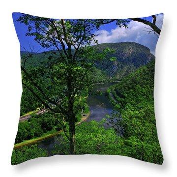 Delaware Water Gap Throw Pillow