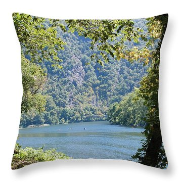 Delaware Water Gap Throw Pillow