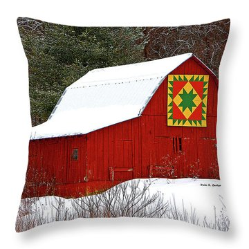Delectable Mountains Snow Throw Pillow