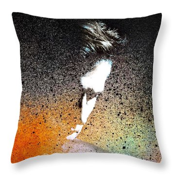 Throw Pillow featuring the painting Deliberation  by Mark Taylor