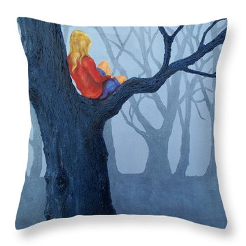 Deliberation Throw Pillow by Susan DeLain