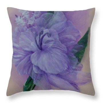 Throw Pillow featuring the painting Delicacy by Saundra Johnson