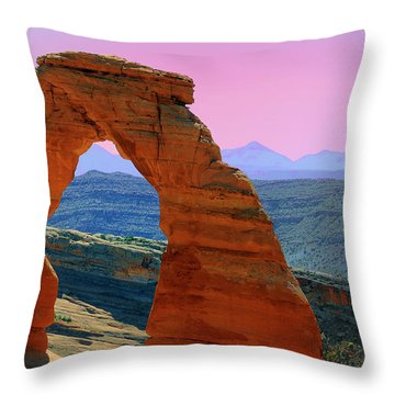 Delicate Arch  --  Arches National Park Throw Pillow