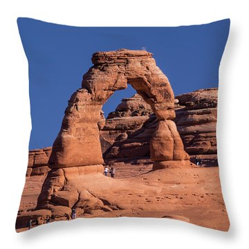 Delicate Arch - 8574 Throw Pillow