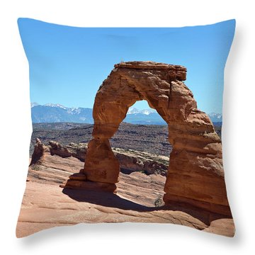 Delicate Arch Arches National Park Throw Pillow