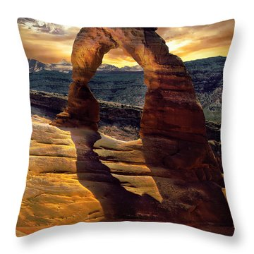 Delicate Arch Throw Pillow by James Bethanis