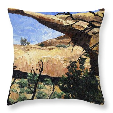 Delicate Arch Throw Pillow by Jane Autry