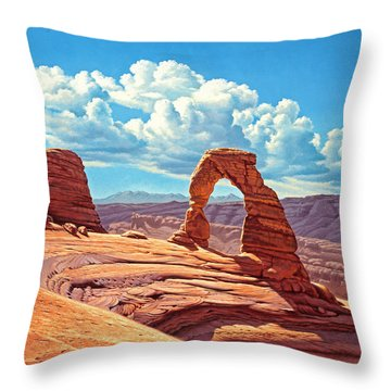 Delicate Arch Throw Pillow by Paul Krapf