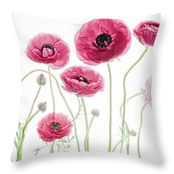 Delicate Arrangement Throw Pillow by Rebecca Cozart
