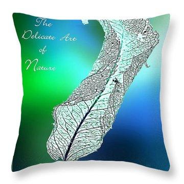 Delicate  Art Throw Pillow
