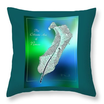 Delicate  Art Throw Pillow by Hartmut Jager