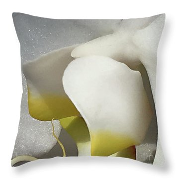 Delicate As Egg Yolk Throw Pillow by Sherry Hallemeier