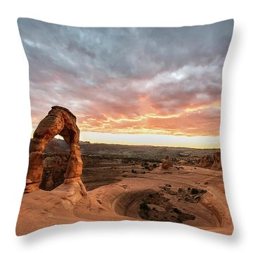 Delicate At Sunset Throw Pillow