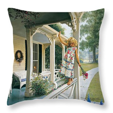 Delicate Balance Throw Pillow by Greg Olsen