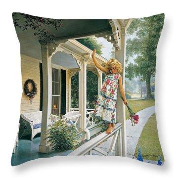 Family Farm Throw Pillows