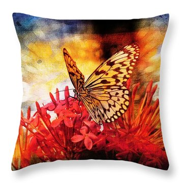 Throw Pillow featuring the photograph Delicate Beauty by Aaron Berg