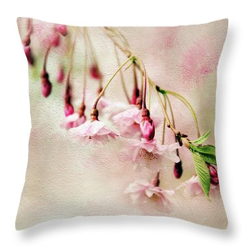 Throw Pillow featuring the photograph Delicate Bloom by Jessica Jenney