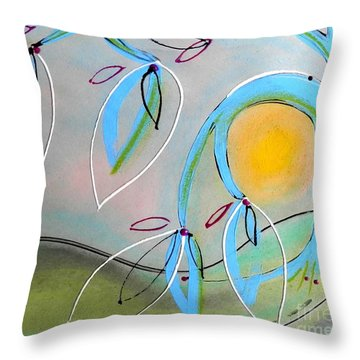 Delicate Charms Throw Pillow