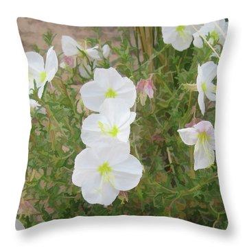 Delicate Desert Bloom - Death Valley Throw Pillow