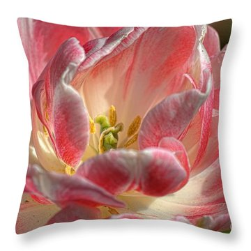 Delicate Throw Pillow by Diana Mary Sharpton