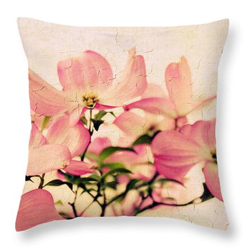 Delicate Dogwood  Throw Pillow