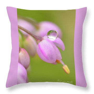 Delicate Drop Throw Pillow
