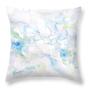 Delicate Elegance Throw Pillow