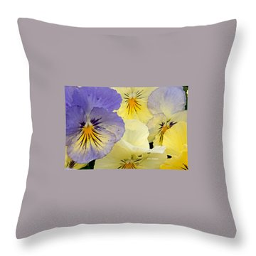 Delicate Faces Throw Pillow