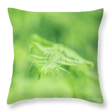 Delicate Fern - Hipster Photo Square Throw Pillow