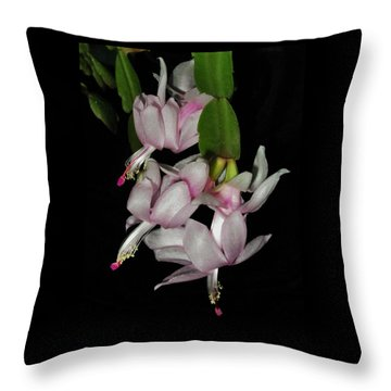 Delicate Floral Dance Throw Pillow