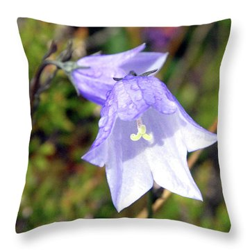Delicate Harebell Throw Pillow