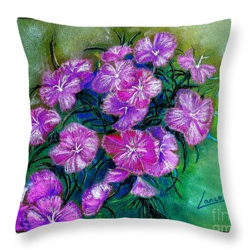 Delicate Pastel Throw Pillow