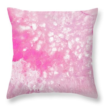 Delicate Pink Agate Throw Pillow