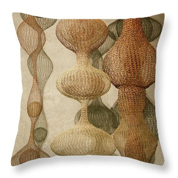 Throw Pillow featuring the photograph Delicate Shapes by Roger Mullenhour
