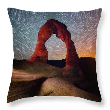 Throw Pillow featuring the photograph Delicate Spin by Darren White