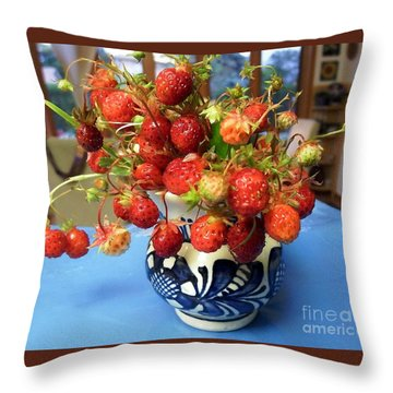 Delicate Throw Pillow by Vicky Tarcau
