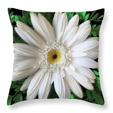 Throw Pillow featuring the photograph Delicate White Flower by Andrew Soundarajan