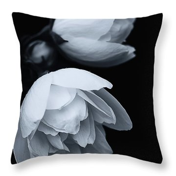 Delicate White Surprise Throw Pillow