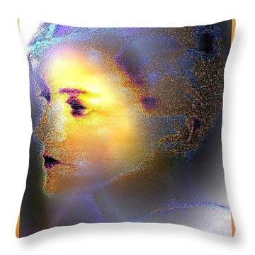 Delicate  Woman Throw Pillow