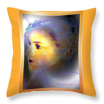 Delicate  Woman Throw Pillow