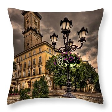 Delicately Peaceful Throw Pillow by Evelina Kremsdorf