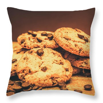 Delicious Sweet Baked Biscuits  Throw Pillow