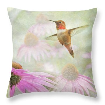 Throw Pillow featuring the photograph Delight In A Flower Garden by Angie Vogel