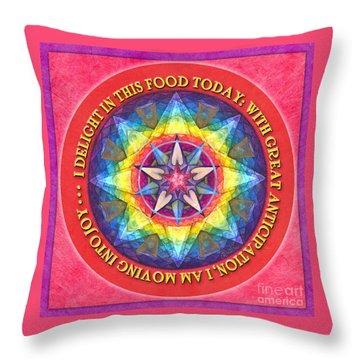 Delight In This Mandala Prayer Throw Pillow