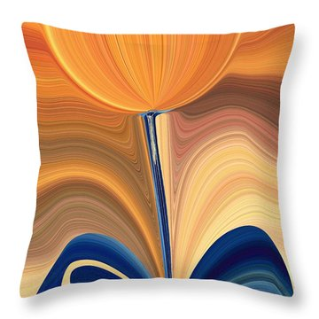 Delighted Throw Pillow by Tim Allen